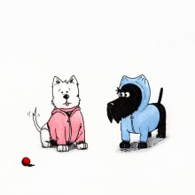 Dogs in The Hood Print